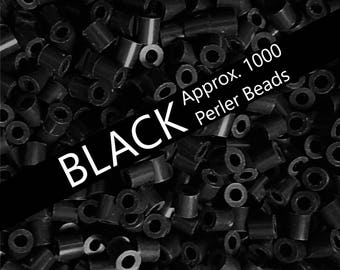 1000 Perler Beads, Black Perler Colors, Perler Bead Art, Bead Supplies, Bulk Perler Beads, Perler Bead Lot, Black, Melting Beads, Perler