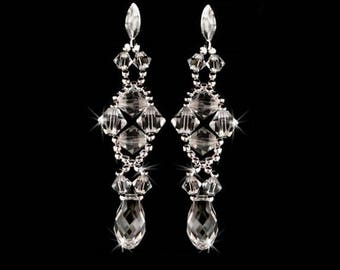 Swarovski crystals earrings, Free UK delivery.