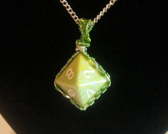 Green wrapped Dice