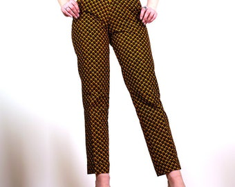 High waist pants in wax Azaira