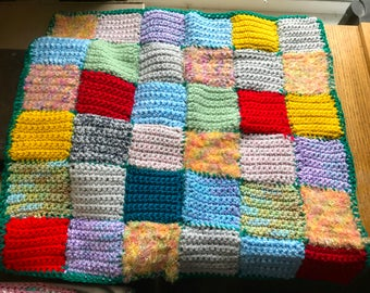 Handmade Crocheted Doll Blanket Afghan For Your Beautiful Doll
