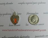 Survivor, Orange Ribbon, MS, CRPS, RSD, chronic obstructive pulmonary disease, Leukemia, Awareness Charm