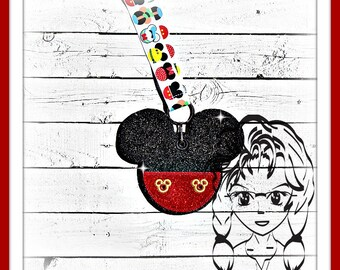 Mr MOUSE PaNTS Pin Lanyard Display Mousehead Trader ~ In the Hoop ~ Downloadable DiGiTaL Machine Embroidery Design by Carrie