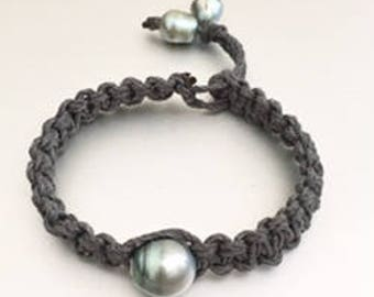 Para-Braided Cord with Tahitian Pearl Bracelet