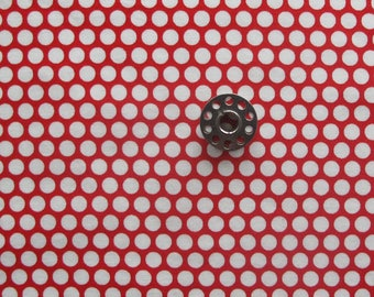 FAT EIGHTH Red and White Polka Dot Print Fabric | Bonnie and Camille Basics fabric from Moda.