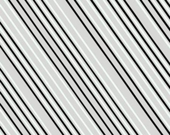 Fat quarter Airmail Stripe in Gray/Black cotton quilt fabric - Windham Fabrics, Paper Obsessed by Heather Givans