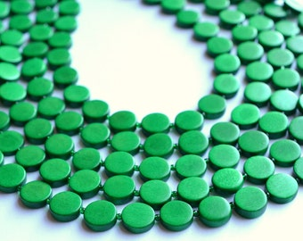 The Charlotte- Kelly Green Wood Statement Necklace