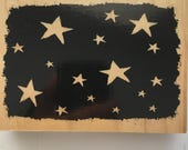 starry night  rubber stamp