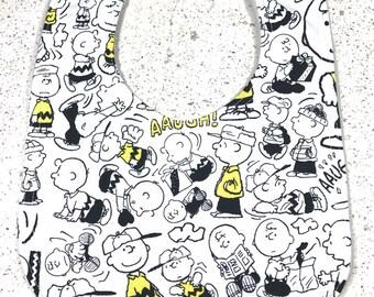 Charlie Brown Baby Bib - Peanuts - Infant Bib - Bandana Bib - Dribble Bib - Baby Shower Gift - Handmade