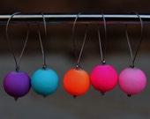 Small Neon Balls Snag-Free Knitting Stitch Markers - Set Of 5