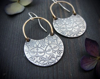 Persephone ... mixed metal earrings