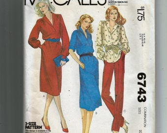 McCall's Misses' Dress or Top Pattern 6743