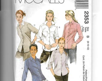 McCall's Misses' Shirt  Pattern 2353