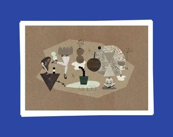 Park  / Art Print / Affiche artistique / Collage / Wall decoration
