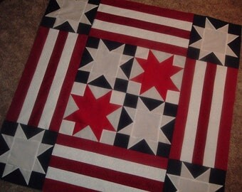 Quilt Top to Finish Patriotic Stars Table Topper Wall Hanging 40 x 40 inches