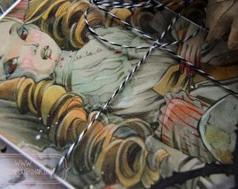PostCard - Anime - Art card - Victorian Fashion - Anime - The Young Vampire - Vampire - Gothic Art