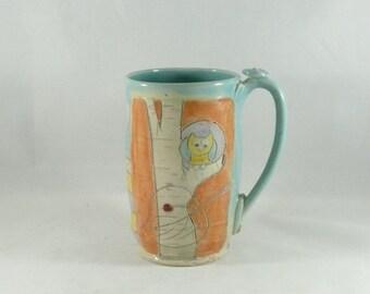 Unique Coffee Mugs, Handmade ceramics and pottery, large tea cup,  beer mug, stein, tankard, latte cup, pottery mug,  travel mug 701