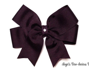 Beet Tails Down Hair Bow - available in 4 sizes - small, medium, large and extra large