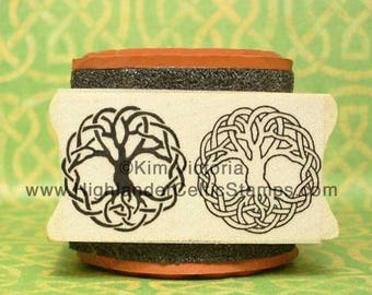 Tree of Life Knotwork Double Rubber Stamp Set #488