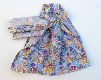 Doll Sling - Doll Toy Carrier - Pouch Doll Sling - Babywearing Sling - Baby Doll Sling - Doll Ring Sling - Baby Doll Wearing - Pastel Floral