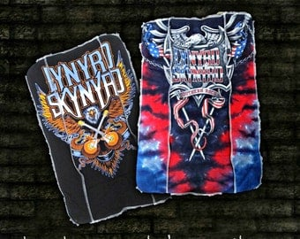 Set of 2 Burp Cloths from recycled Southern Rock