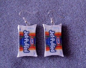 Kraft Marshmallows Polymer Clay Earrings Polymer Clay Junk Food Kitsch Hypoallergenic Nickle Free