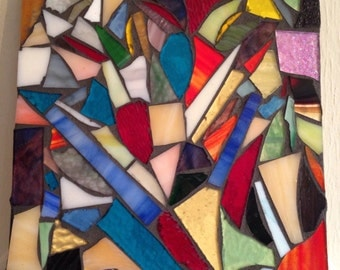 Static Abstract Art Stained Glass Mosaic