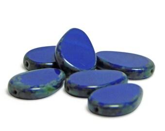 Czech Picasso Beads - Czech Teardrop - Teardop Beads - Czech Glass Beads - Czech Drop Beads - Czech Beads - 6pcs (A112)