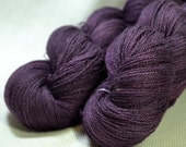 NEW 50/50 Wool/Silk Lace Weight Yarn Hand Dyed by Yarn Hollow Smokey Rose Petal 4 ounces, 1260 yards