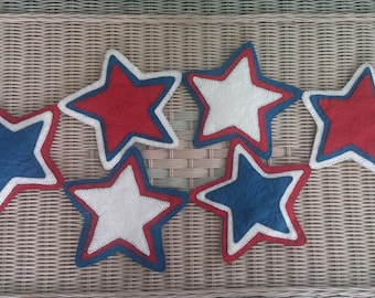 Red, White and Blue Star Table Runner