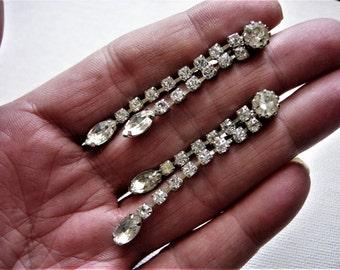Beautiful Vintage Rhinestone Earrings