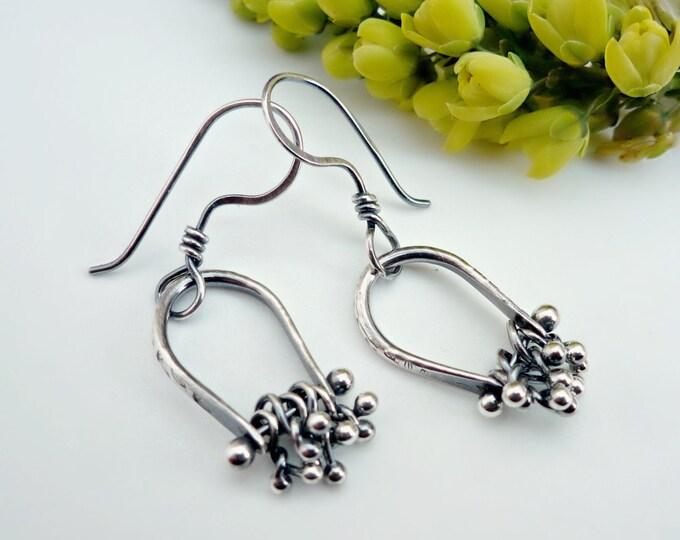 Sterling Silver Cluster Earrings