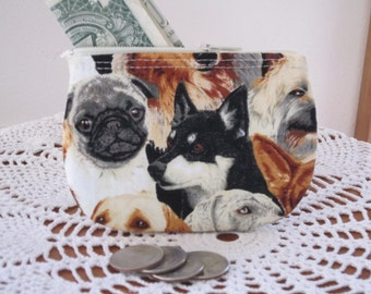 Dogs Business Card Clutch Zipper Small Essential Oils Case Gift Card Holder in  Made in the USA