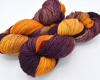Blood Orange Targhee Hand Dyed Sock Yarn - In Stock