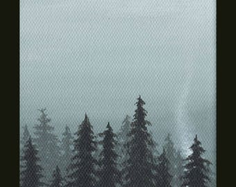 ACEO Art Card Print - The Forest 4 - Forest painting