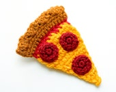 Pepperoni Pizza Brooch and Hair Clip - Ready to Ship