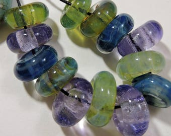 Handmade Lampwork Glass Borosilicate Beads SLIDES Two Sisters Designs 041017B