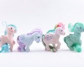 My Little Pony, Vintage, Set of Four, Windy, Snuzzle, Melody, Sprinkles ~ The Pink Room ~ 160921C