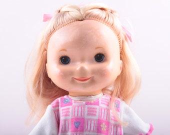 1970's, Vintage Doll, Fisher Price, My Friend, Mandy, Re-Dressed, Dressed, Blonde, Nice Hair  ~ The Pink Room ~ 161228