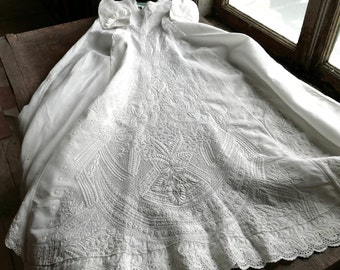 Antique Christening Gown 6 Months