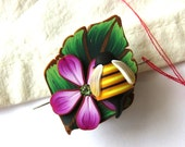 Bumble Bee Needle Minder Sewing Needle Nanny for your Needlepoint or Cross Stitching