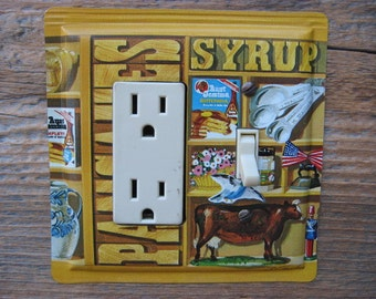 Unique Lighting Switch Plates Aunt Jemima Syrup Tin Rocker Combo Cover Gfci Outlet Light Fixture Plate
