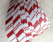 """Half price* 3/4"""" Weaving Paper Star Strips ~Candy Cane Stripes (50 strips)"""