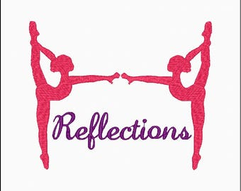 Ballet Embroidery Design Reflections