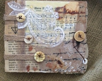 Mixed media journal with botanical print pages