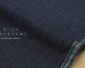 Japanese fabric 100% linen yarn dyed - tiny herringbone - blue - 50cm