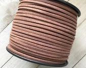 Suede Lace Faux Leather Jewelry Cord (C3) Dark Brown 5 yds for Crafts Boho Jewelry Tassels Bracelets Necklace Stringing Vegan Leather Cord