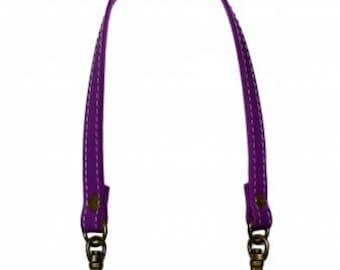 """Inazuma - 12-1/2"""" Swivel Hook Purse Handle - PURPLE - Synthetic Leather - Japanese Imported Notions"""