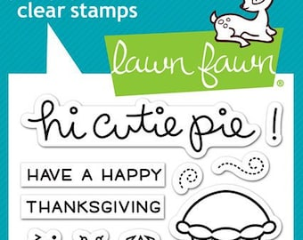 Lawn Fawn Clear Photopolymer Rubber Stamp set - Cutie Pie