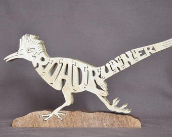 Roadrunner Bird Wooden Puzzle Toy  Hand  Cut  with Scroll Saw